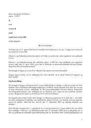 1 Den 6. december 2010 blev i sag nr. 2/2010 K ... - Revisornævnet