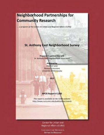 Saint Anthony East Neighborhood Survey - Center for Urban and ...