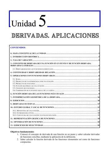 Unidad 5: Derivadas y aplicaciones