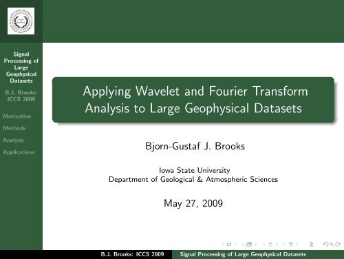 Applying Wavelet and Fourier Transform Analysis to Large