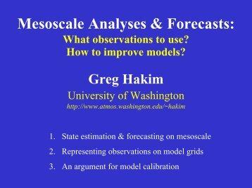 Mesoscale Analyses & Forecasts