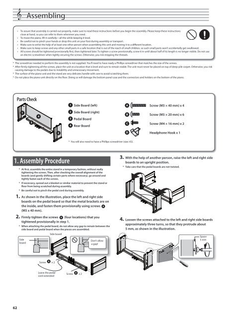 Owner's Manual (HP-505_HP-503_OM.pdf) - Roland