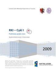 RKI Cykl I - Wydział Matematyki i Informatyki - Uniwersytet Mikołaja ...