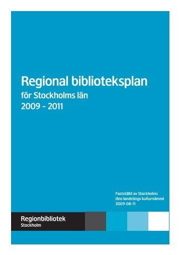 Regional biblioteksplan - Nacka kommun