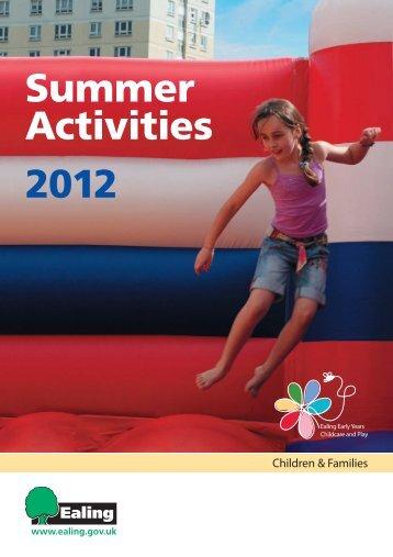 Summer Activities 2012 - Children's Centres