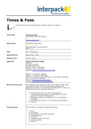 Times & Fees - Messe Düsseldorf