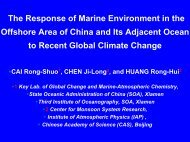 The Response of Marine Environment in the Offshore Area ... - PICES