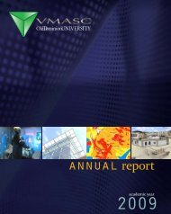 annual report - the Virginia Modeling, Analysis and Simulation Center