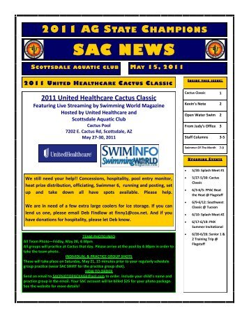 to view May 15 newsletter - Scottsdale Aquatic Club