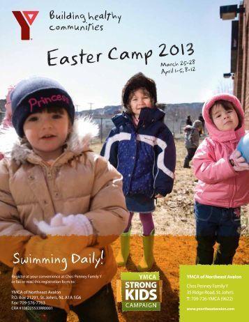Easter Camp brochure 2013 - 1 - the YMCA of Northeast Avalon