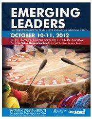 october 10-11, 2012 - Native Nations Institute - University of Arizona