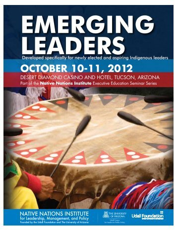 october 10-11, 2012 - Native Nations Institute - University of Arizona