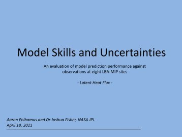 Model Skills and Uncertainties - Climatemodeling.org