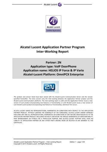Download OmniPCX Enterprise report