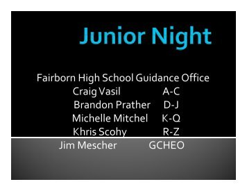 Junior Night - Fairborn City Schools
