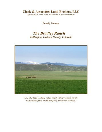 The Bradley Ranch - Clark & Associates Land Brokers, LLC