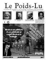 Journal du 11 septembre 2006 - Département de sociologie