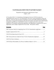 NATURALIZATION FEE WAIVER PACKET - ILRC