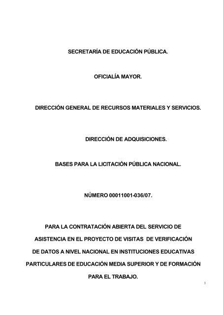 Secretarã A De Educaciã N Pãšblica Oficialã A Comprasep
