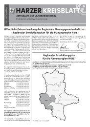Regionale Planungsgemeinschaft Harz - bei Regionale-Planung.de
