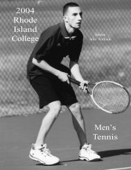 The 2004 Rhode Island College Men's Tennis Team