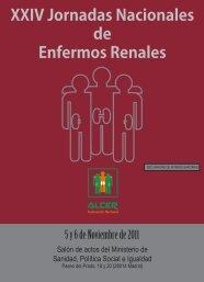XXIV Jornadas Nacionales de Enfermos Renales - Alcer