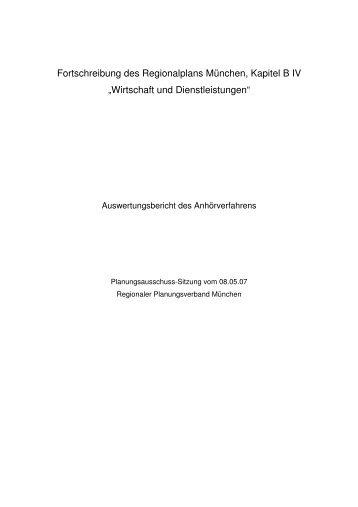 Anlage 3 - Regionaler Planungsverband München
