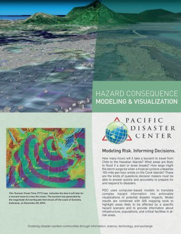 HAZARD CONSEQUENCE - Pacific Disaster Center