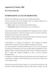 Paolo Portaluri e Alessandro Vigna - corsi tenuti dal prof. m ...