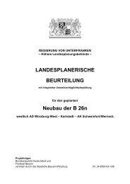 LANDESPLANERISCHE BEURTEILUNG - Regierung von ...