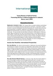 Young Women in Political Parties: Promoting ... - International Alert