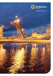ANNUAL REPORT 2011 - St Barbara Limited
