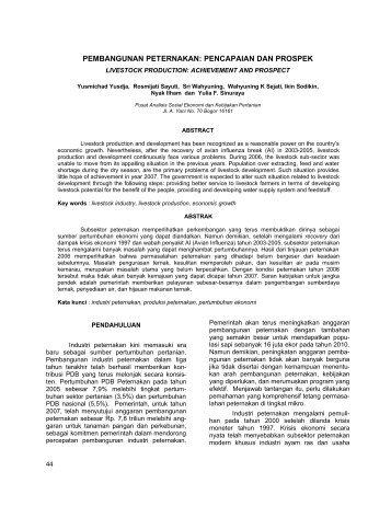 Pembangunan Peternakan: Pencapaian dan Prospek - Pusat Sosial ...