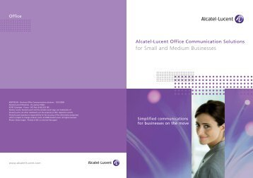Alcatel-Lucent Office Communication Solutions ... - Talk Ezy Group