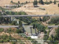 Preliminary Findings of Transportation Infrastructure Performance of ...