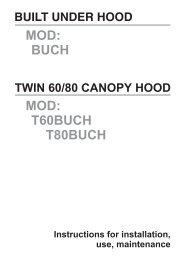 MOD: BUCH MOD: T60BUCH T80BUCH - Caple