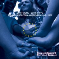 our future - our europe building european awareness 2002 - 2003