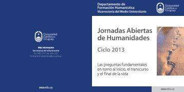 Folleto Jornadas Abiertas de Humanidades - Universidad Católica ...