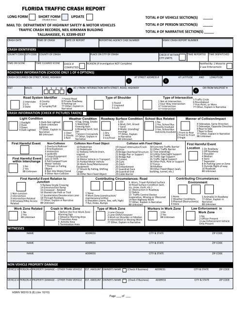 Rev 10 Florida Nhtsa Report 2010 - Crash Hsmv-90010s