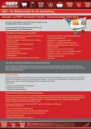 Newsletter Onlineshop März 2011 - PDF-Format - REIFF Technische ...