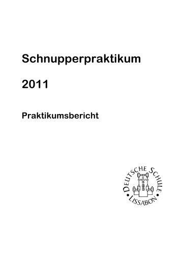 Praktikumsbericht 2011 - Deutsche Schule Lissabon