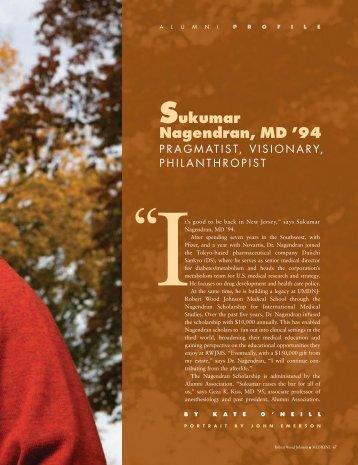 Sukumar Nagendran, MD - Robert Wood Johnson Medical School ...