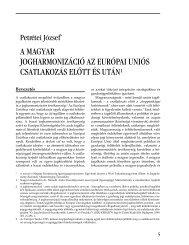 a magyar jogharmonizáció az európai uniós csatlakozás előtt és után1