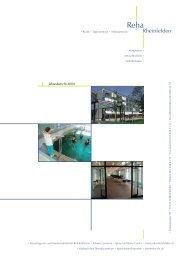 Jahresbericht 2004 - bei der Reha Rheinfelden