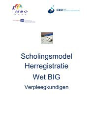 Scholingsmodel Herregistratie Wet BIG - MBO