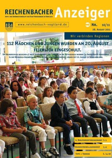 112 Mädchen und Jungen wurden am 20. August ... - Reichenbach