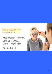(AHAC) Work Plan - Sydney South West Area Health Service