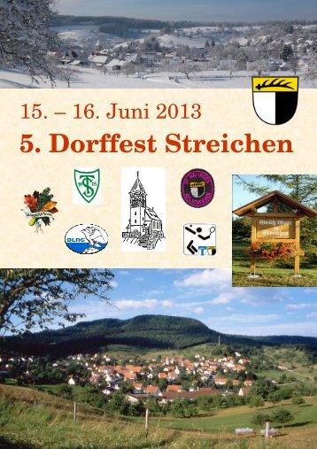 Festschrift Dorffest Streichen 2013 - Veranstaltungen