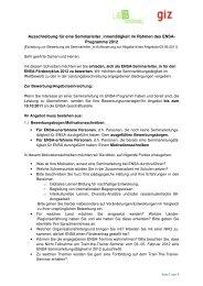 Aufforderungsschreiben für SL-Tätigkeit 2012 - ELAN