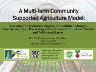 A Multi-farm Community Supported Agriculture Model: - NAREA
